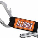 SWW20565KC - UNIVERSITY OF ILLINOIS  CARABINER WITH BOTTLE OPENER AND  KEY CHAIN
