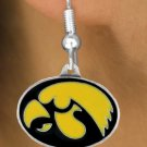 SWW15798E - UNIVERSITY OF IOWA HAWKEYES EARRINGS