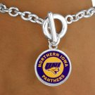 "SWW13401B - LICENSED UNIVERSITY OF NORTHERN IOWA ""PANTHERS"" LOGO BRACELET"