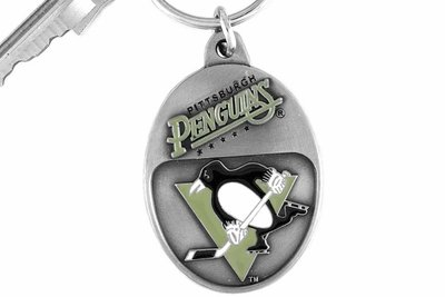 SWW14958KC - PITTSBURGH PENGUINS LOGO KEY CHAIN