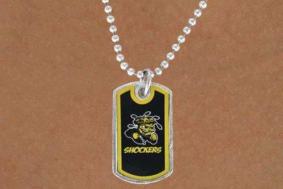sww13990n licensed wichita state university shockers dog tag logo necklace. Black Bedroom Furniture Sets. Home Design Ideas