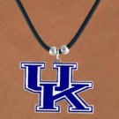 "SWW15739N - UNIVERSITY OF KENTUCKY ""WILDCATS"" BLACK CORD NECKLACE"