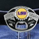 """SWW19940BK - LOUISIANA STATE UNIVERSITY  """"OFFICIAL TAILGATER"""" BELT BUCKLE WITH  BOTTLE OPENER"""