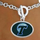"SWW19155B - TULANE UNIVERSITY ""GREEN WAVE""  BRACELET"