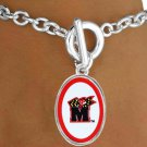 "SWW16669B - UNIVERSITY OF MARYLAND ""TERRAPINS"" BRACELET"