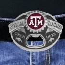 """SWW17644BK - TEXAS A&M UNIVERSITY AGGIES """"OFFICIAL TAILGATER"""" BELT BUCKLE WITH BOTTLE OPENER"""