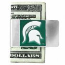 SWW18589MC - MICHIGAN STATE  UNIVERSITY SPARTAN GREEN MONEY CLIP