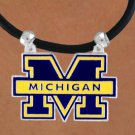 SWW15694N - UNIVERSITY OF MICHIGAN WOLVERINES BLACK CORD NECKLACE