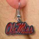 "SWW19526E - LICENSED UNIVERSITY OF MISSISSIPPI ""OLE MISS"" LOGO EARRINGS"