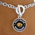 SWW13412B - LICENSED UNIVERSITY OF SOUTHERN MISSISSIPPI GOLDEN EAGLES MASCOT BRACELET