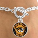 SWW12957B - LICENSED UNIVERSITY OF MISSOURI TIGERS MASCOT & NAME BRACELET