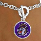 "SWW19536B - LICENSED JAMES MADISON  UNIVERSITY ""DUKES"" BRACELET"
