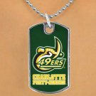 "SWW17103N - LICENSED UNIVERSITY OF NORTH CAROLINA AT CHARLOTTE ""FORTY-NINERS"" DOG TAG NECKLACE"