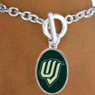 "SWW17015B - LICENSED UTAH VALLEY UNIVERSITY ""WOLVERINES"" BRACELET"