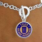 "SWW13383B - LICENSED UNIVERSITY OF TULSA ""GOLDEN HURRICANE"" LOGO BRACELET"