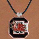 "SWW15748N - UNIVERSITY OF SOUTH CAROLINA ""GAMECOCKS"" BLACK CORD NECKLACE"