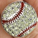 SWW18460R - PAVE YELLOW FACETED  AUSTRIAN CRYSTAL SOFTBALL STRETCH  RING