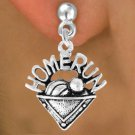 "SWW701SE2 - ""HOME RUN"" PLATE & EARRINGS"