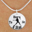 """SWW1150SN5 - """"BORN TO BE A STAR"""" SOFTBALL CHARM & NECKLACE"""