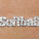 "SWW18854N - PAVE CRYSTAL ""SOFTBALL""  NECKLACE"