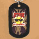 "SWW12210N - ""ATTITUDE IS EVERYTHING"" BLACK DOG TAG & BALL CHAIN NECKLACE"