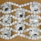 SWW18207B - CLEAR AUSTRIAN CRYSTAL  LATTICE LATCH CLASP BRACELET