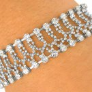 SWW7343B - FACETED SILVER TONE BALL CHAIN & AUSTRIAN CRYSTAL BRACELET