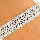 SWW7253B - BEAUTIFUL SWAROVSKI CRYSTAL RONDELLES SEMI-STRETCH BRACELET