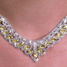 SWW19910NE - GENUINE AUSTRIAN  SPARKLING TOPAZ CRYSTAL LOVELY  DESIGN NECKLACE & EARRING SET