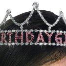 "SWW19486T - GENUINE AUSTRIAN CRYSTAL PRINCESS STYLED ""BIRTHDAY GIRL"" TIARA"