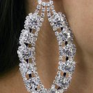 SWW18361E - GENUINE AUSTRIAN  CRYSTAL AND RHINESTONE EARRINGS