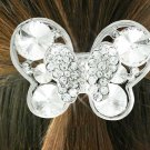 SWW18487HJ - CLEAR GENUINE AUSTRIAN  CRYSTAL BUTTERFLY PONYTAIL  HOLDER