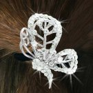 "SWW16568HJ - GENUINE AUSTRIAN CRYSTAL COVERED ""BUTTERFLY"" PONYTAIL HOLDER"
