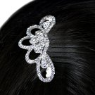 SWW15947HJ - BEAUTIFUL AUSTRIAN CRYSTAL HAIR COMB