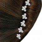 SWW14260HJ - 6-PIECE GENUINE AUSTRIAN CRYSTAL BUTTERFLY STICK PIN HAIR JEWELRY