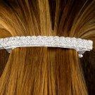 SWW10088HJ - GENUINE AUSTRIAN CRYSTAL DOUBLE-ROW HAIR CLIP