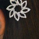 SWW11701HJ - GENUINE AUSTRIAN CRYSTAL BARRETTE FLOWER HAIR JEWELRY CLIP