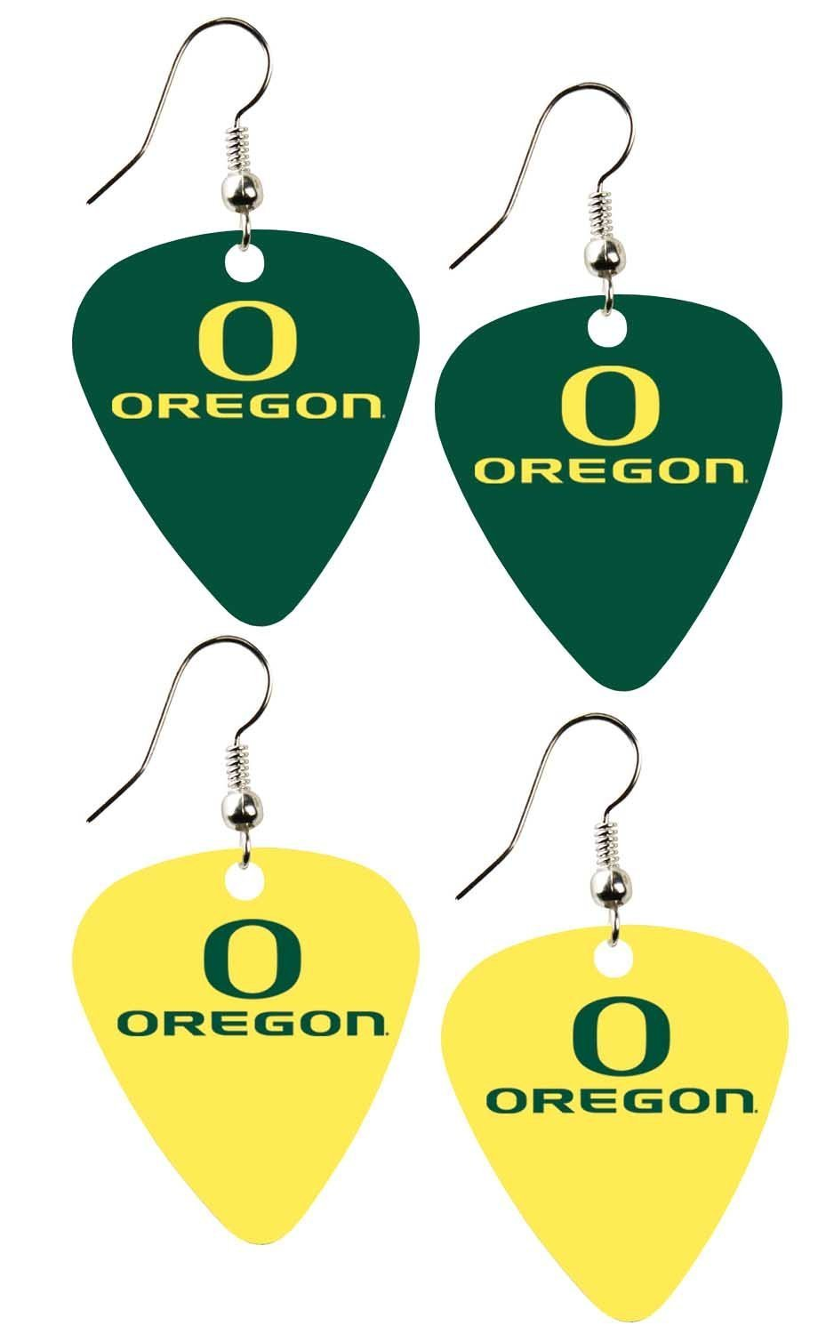 College Guitar CGPW2-OR Game Day Pick Wear Home and Away Ear Ring Pack - SWAZC