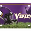 Minnesota Vikings Logo and Helmet Aluminum License Plate - SWEBMVLP1
