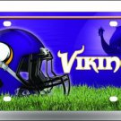Minnesota Vikings Logo and Helmet Aluminum License Plate - SWEBMVLP2
