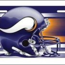 Minnesota Vikings Logo and Helmet Aluminum License Plate - SWEBMVLP5