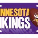 Minnesota Vikings Logo and Helmet Aluminum License Plate - SWEBMVLP6