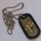 Real Single Brass Debossed Military Dog Tag Dogtag Made Just For U