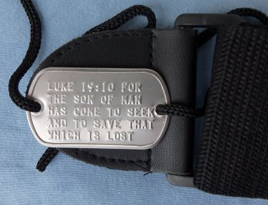 Real 2 Hole Military Dog Tag Made Just 4 Your Guitar Strap