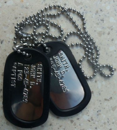 Real Shiny Military Dog Tags Dogtags Made Just For You