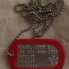 ALZHEIMER'S CUSTOM EMBOSSED STAINLESS STEEL DOG TAG ID TAG NECKLACE