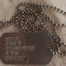 Real Standard SINGLE Notched Military Issue GI Dog Tag Dogtag Made Just For U