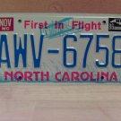 1986 North Carolina Premium License Plate NC #AWV-6758