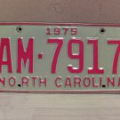 1975 North Carolina Random Number Truck License Plate NC
