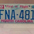 1985 North Carolina VG License Plate NC #FNA-401